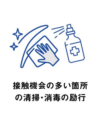 接触機会の多い箇所の清掃・消毒の励行